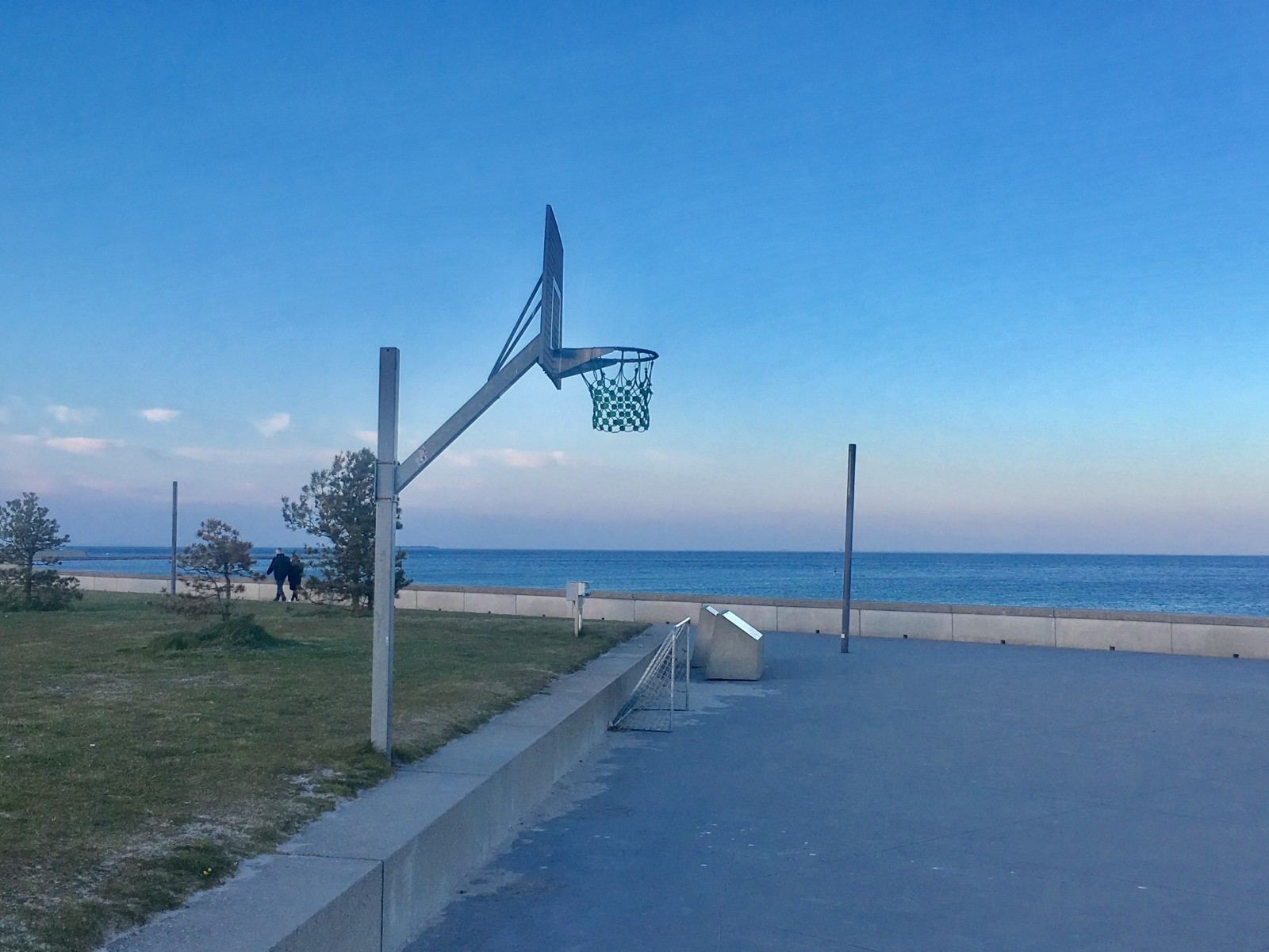 Basketball Court at Amager Strand, Copenhagen, Denmark.