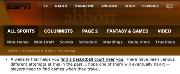 COTW Featured on ESPN.com