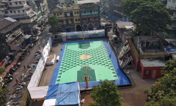Must Hoop : Nagpada Basketball Court in Mumbai, India