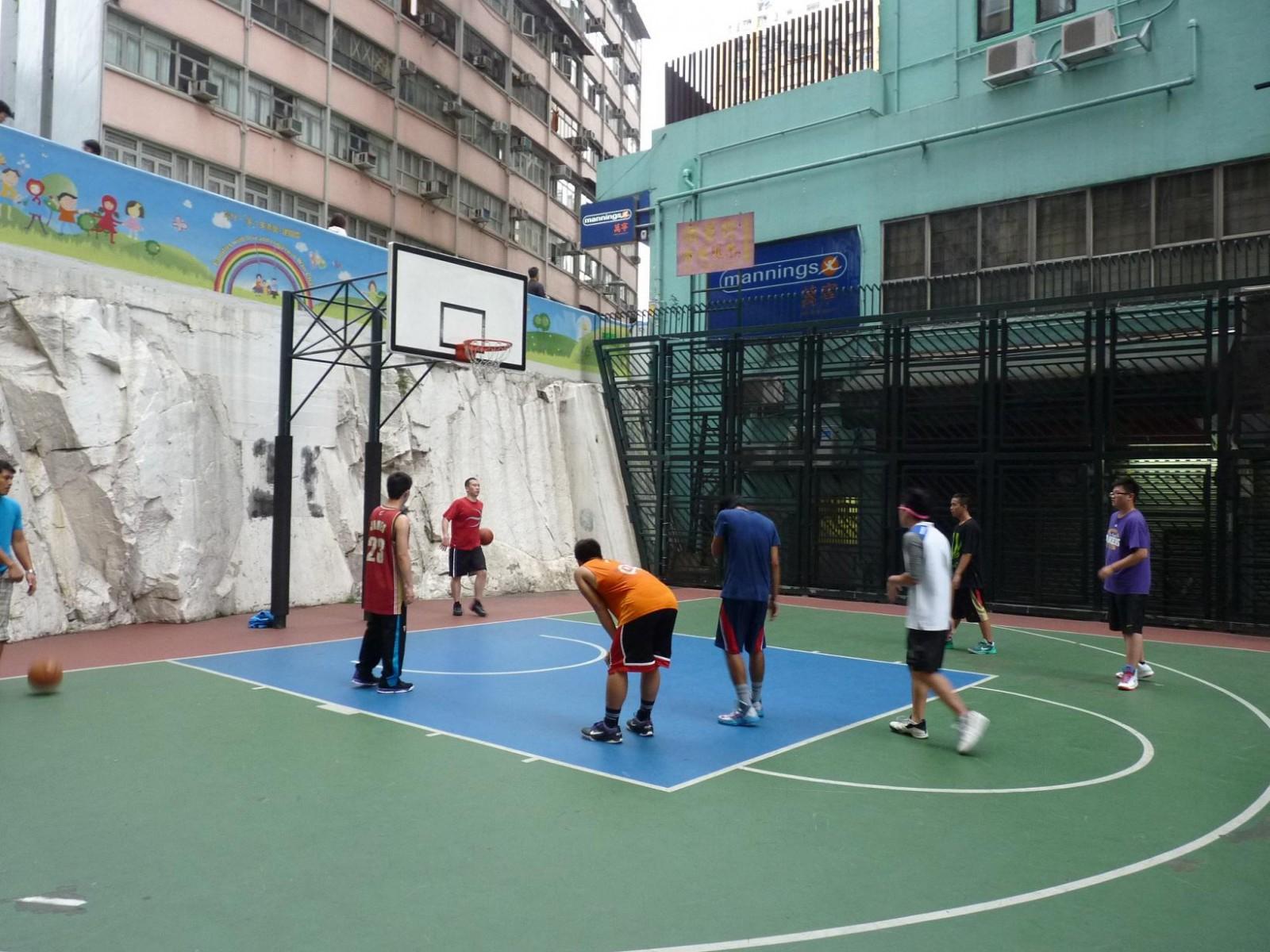 Basketball Court at Hennessy Road Playground in Hong Kong, Hong Kong