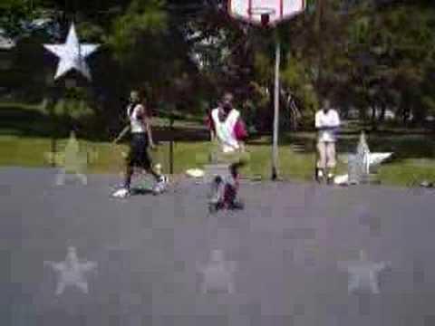 At Jackson Park Playing Around Hoopin