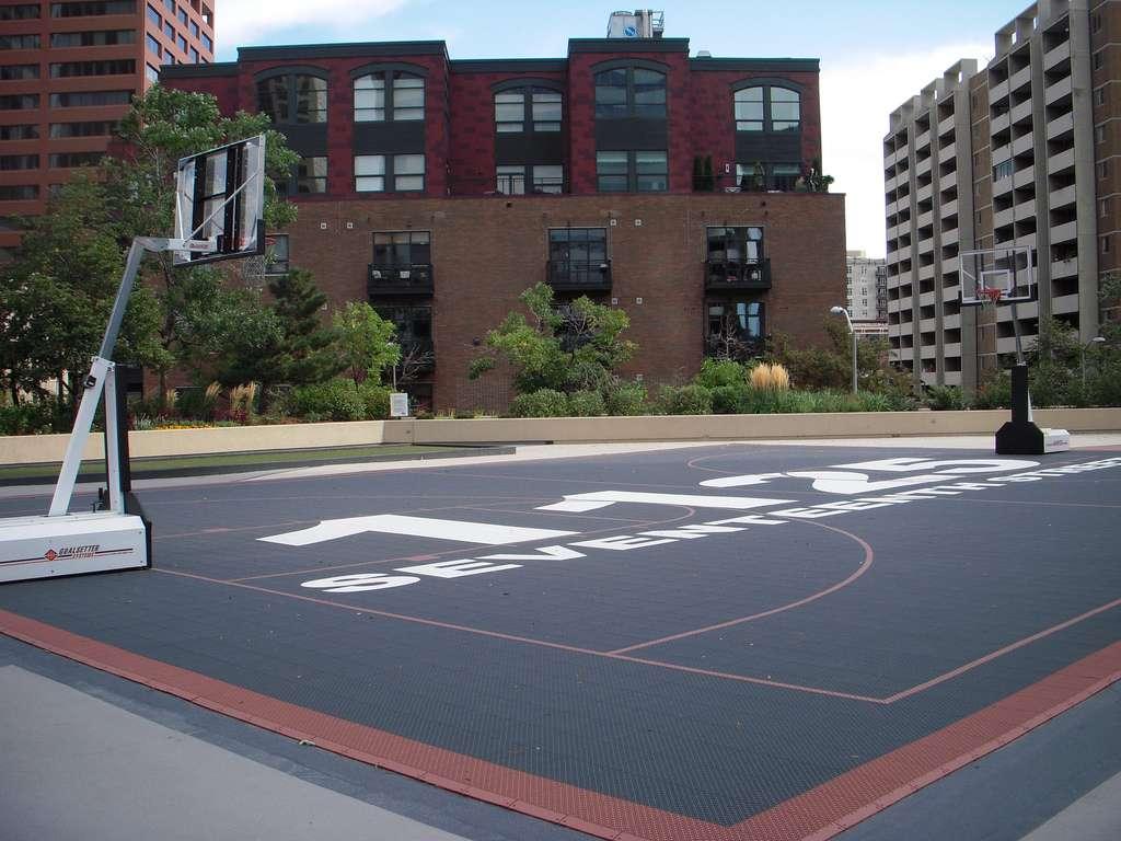 Denver, CO Basketball Court: Seventeenth Street Rooftop ...