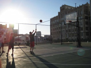 Basketball on the Santee Court rooftops