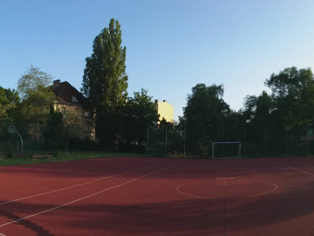 Big court - from North side