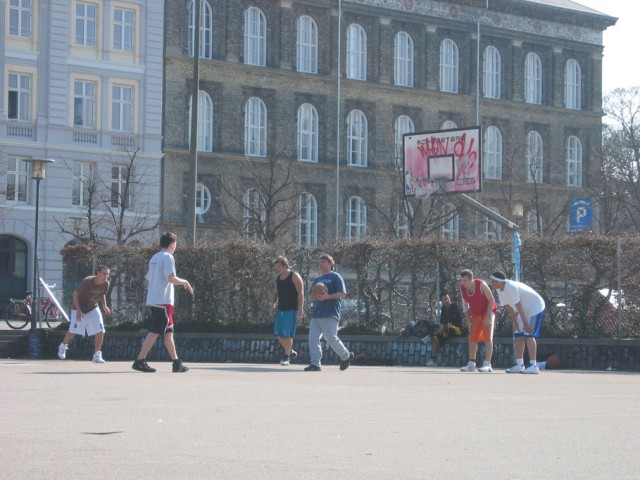3-on-3 game at Israels Plads