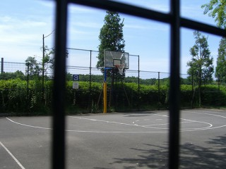 A court located in the 'Sports Arena' of this beautiful park in Tokyo.