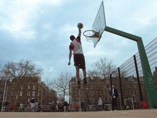 Profile of the basketball court Ceintuurbaan, Amsterdam, Netherlands