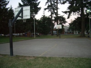 Profile of the basketball court Marion Park, Salem, OR, United States