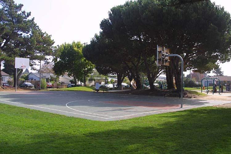 Santa Cruz CA Basketball Court Garfield Park