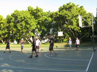 Profile of the basketball court CWS Outdoor, Cape Town, South Africa