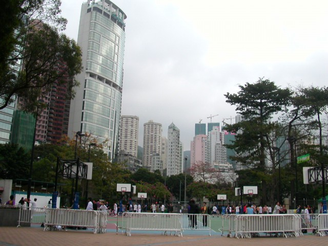 Victoria Park: the basketball courts