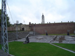 The two courts at Kalemegdan