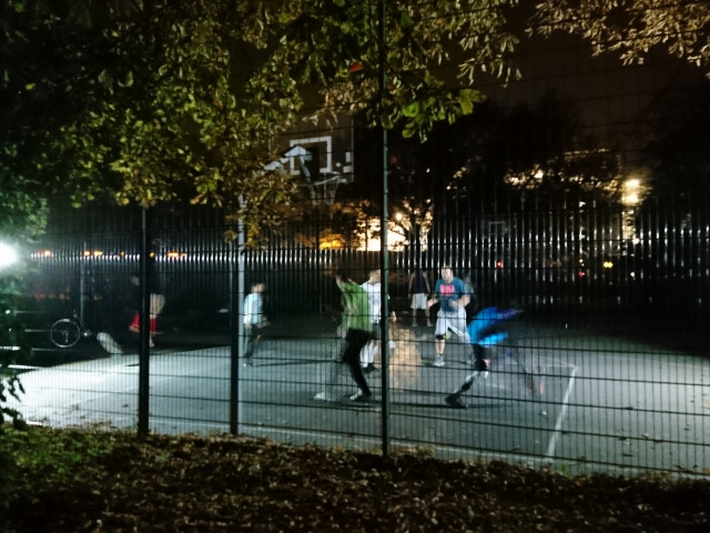 Full court by night - from north side