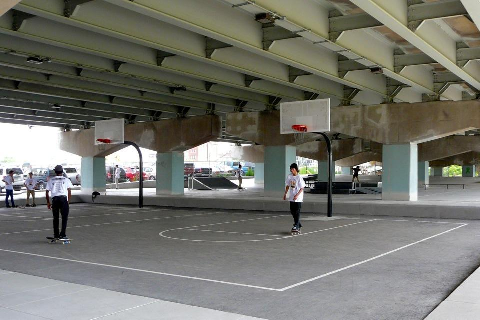 Toronto Basketball Court Underpass Park Courts Of The World