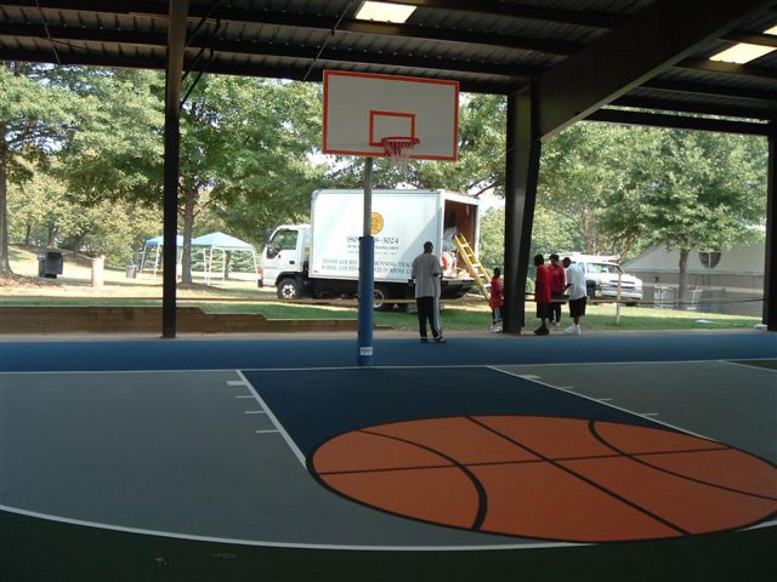 Winston Salem Nc Basketball Court Rupert Bell Rec Center Courts Of The World