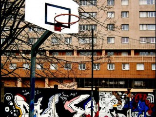 Profile of the basketball court Gare Nanterre U, Nanterre, France