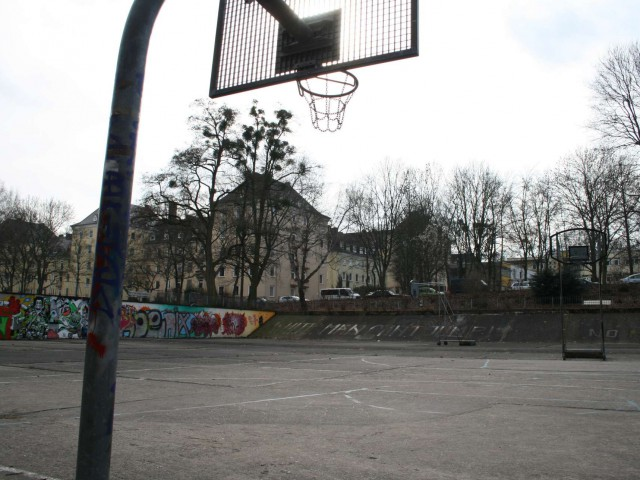 Profile of the basketball court Goetheanlage, Kassel, Germany