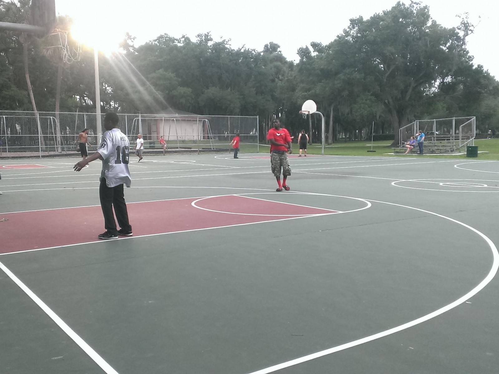 Tampa Fl Basketball Court Desoto Park Courts Of The World
