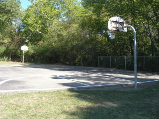 The full court in Hollydale Park.