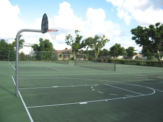 Profile of the basketball court Lakeview Park, Deerfield Beach, FL, United States