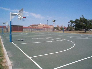 The two courts in Pittman Sullivan Park