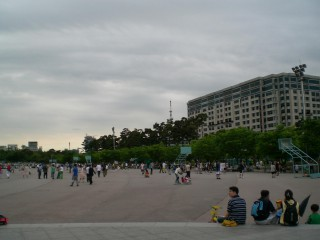 The public asphalt courts in Yeouido Parrk