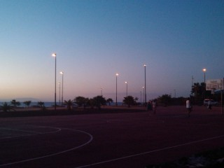 Alcalá Beach Court at Sunset