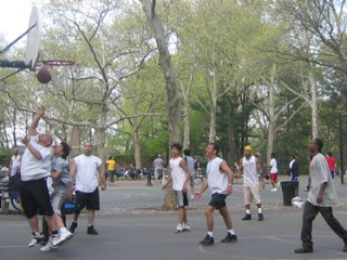 Basketball at Central Park.
