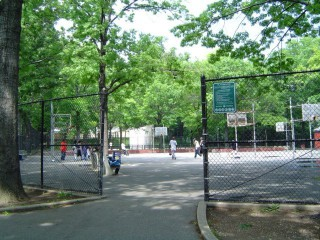 The courts at Claremont Park.
