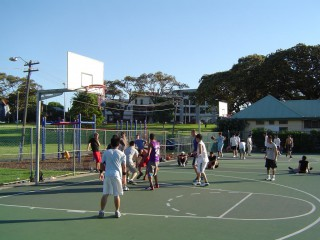 The two full-courts at Prince Albert Park.