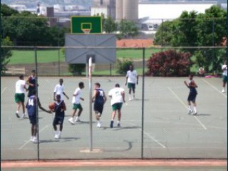 Profile of the basketball court Glenwood High School, Durban, South Africa