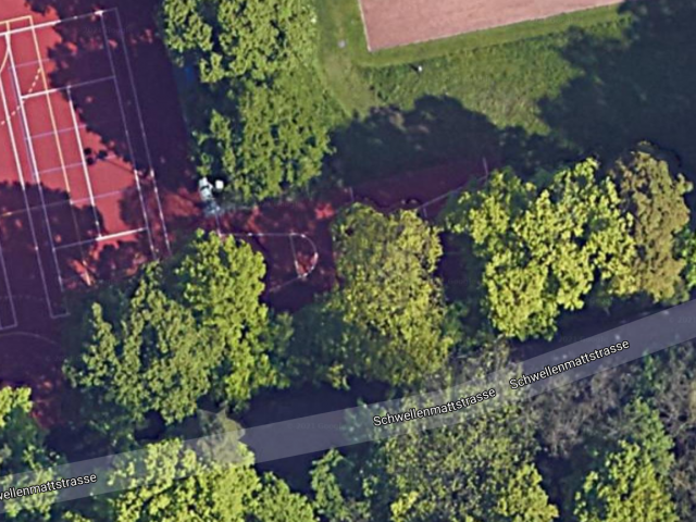 Basketball Court, view from above