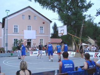 Picture of the annual streetball tournament in Lipik, Croatia.