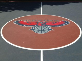 Profile of the basketball court Central Park, Atlanta, GA, United States