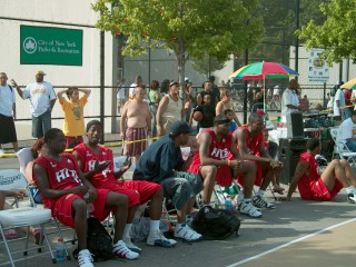 Another shot of the Hoops in the Sun tournament.