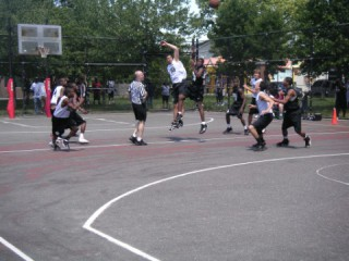 The courts at Roy Wilkins Park in Queens, NY.
