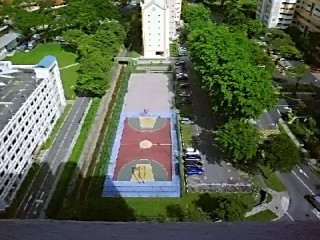 A basketball court in Singapore.
