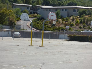 Basketball Court and Hoops at Hill