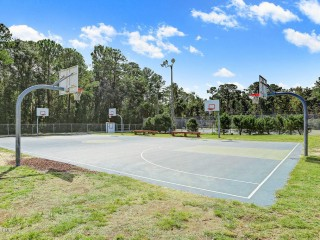 Profile of the basketball court Mike Chappell Park, Carolina Beach, NC, United States