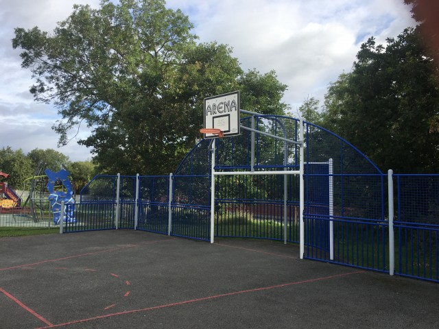 Profile of the basketball court Maes Derwen Court, Saint Asaph, United Kingdom