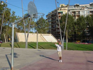 A basketball court in Barcelona, Spain.
