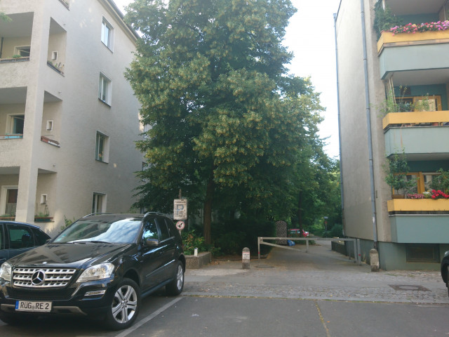 Access through the parking of Niebuhrstraße 32