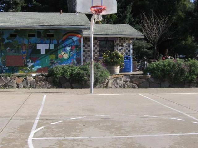 People´s Park Streetball Court in Berkeley, California