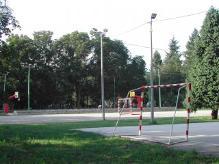 A basketball court in the region of Pomoravlije.