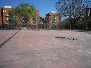 Basketball courts in Madrid, Spain.