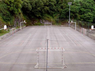Soccer and basketball courts...
