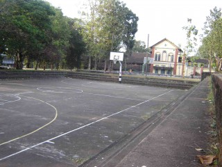 A basketball court in Changanassery, India.