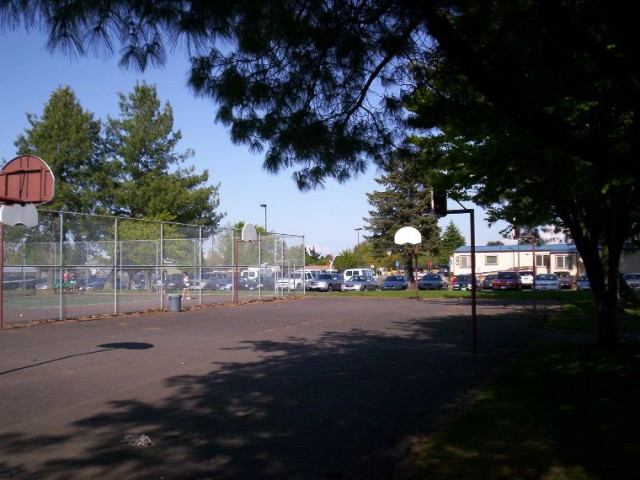 Streetball Court at the Chemeketa Community College in Salem, Oregon