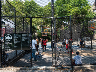 "West 4th Street Courts or ""The Cage"" Basketball Court"