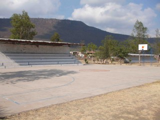 Basketball court in Juchitlán, Mexico.